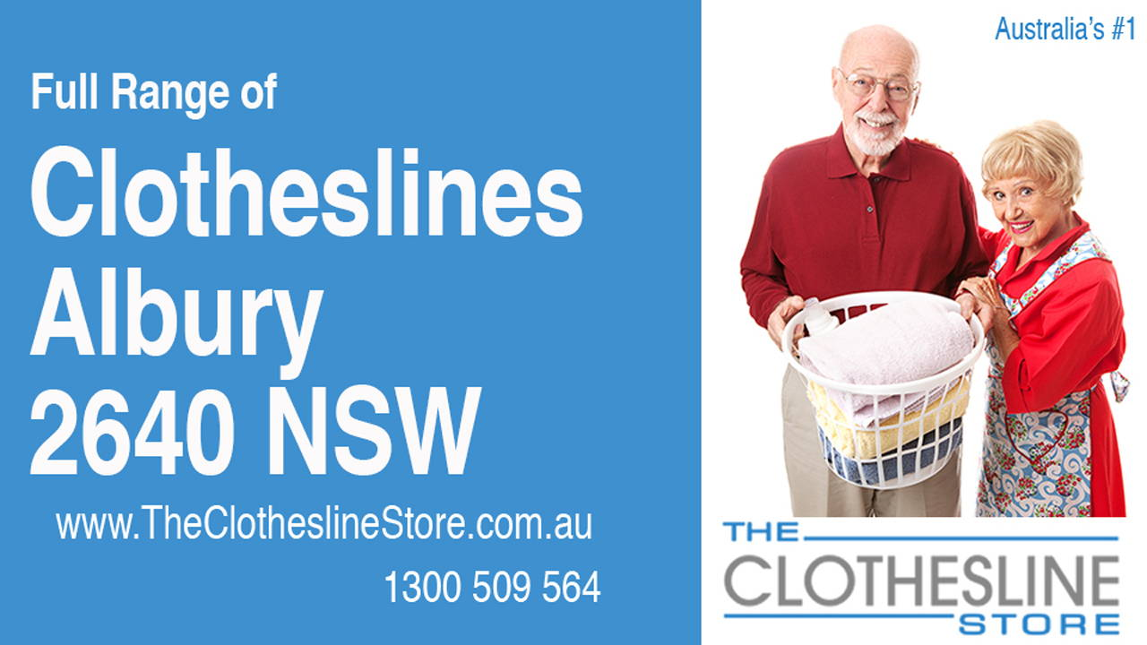 New Clotheslines in Albury 2640 NSW