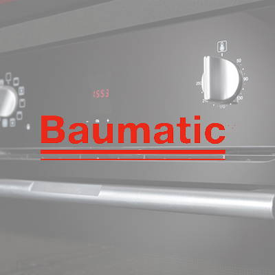 Baumatic appliances used in our flat pack kitchens, The Blue Space