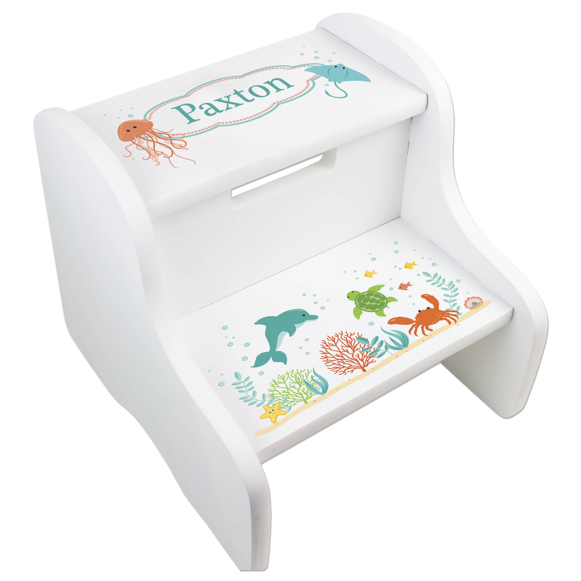 childs personaliized sea life step stool