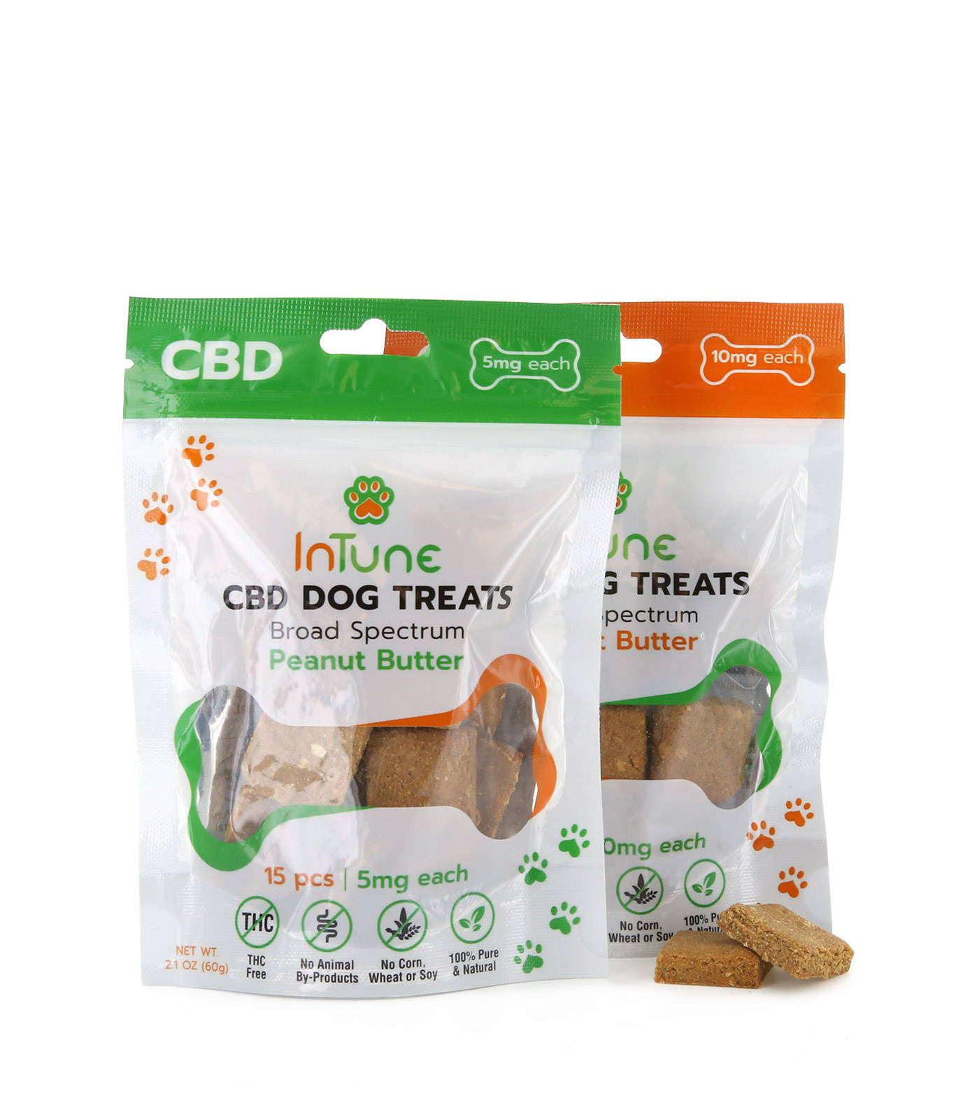 Peanut Butter Flavored Broad Spectrum CBD Dog Treats