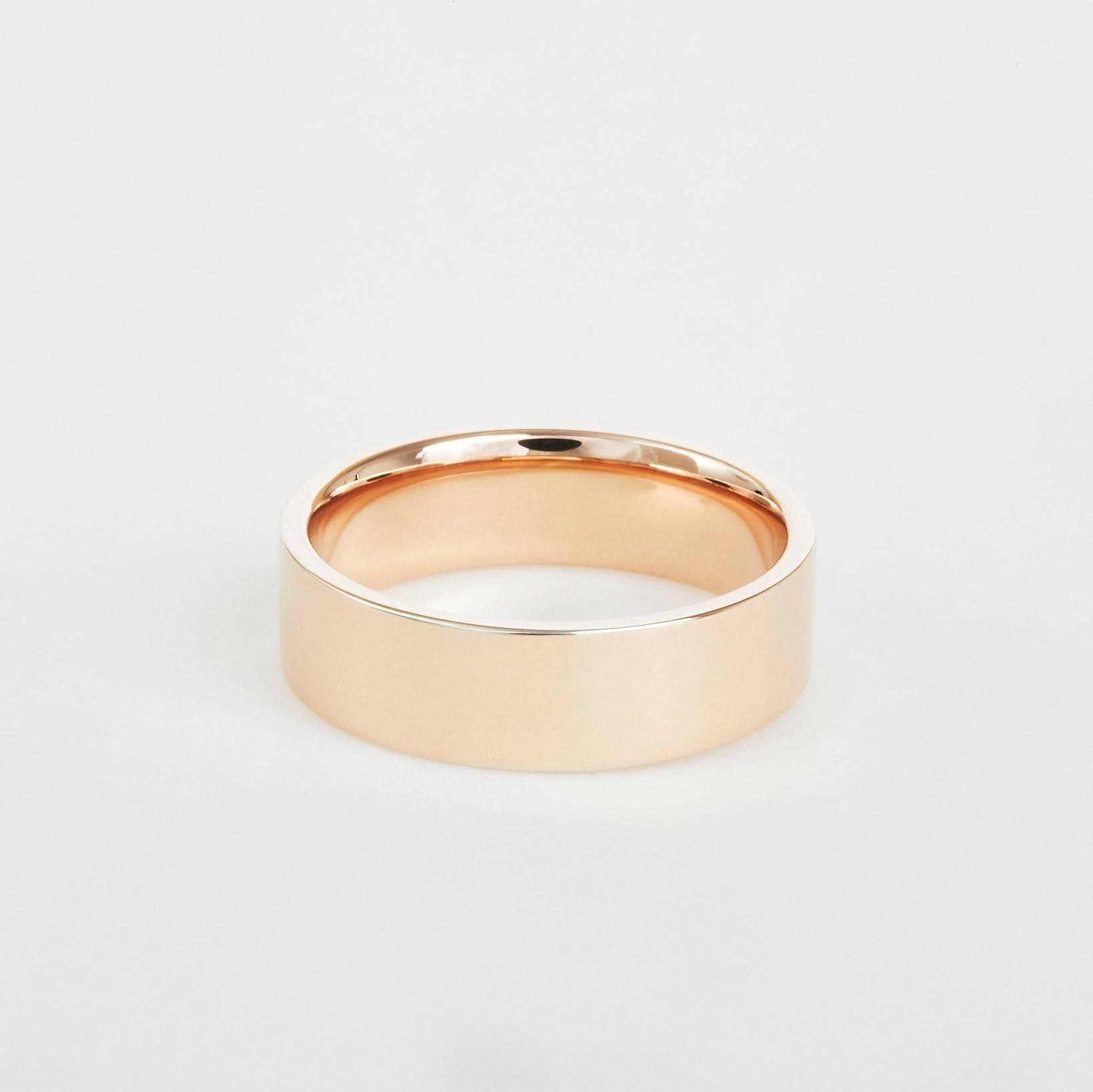 flat rose gold wedding band
