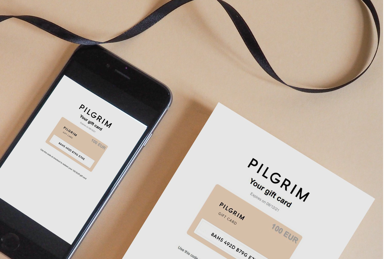 Pilgrim gift card