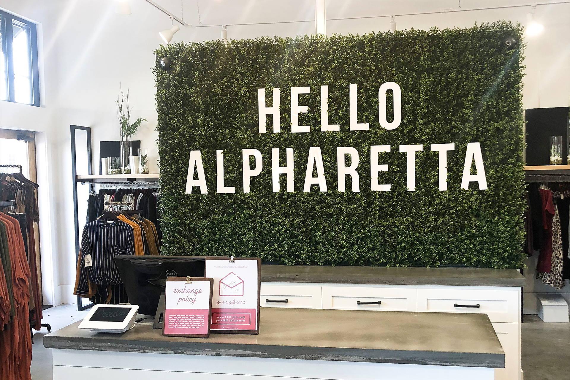 Hello Alpharetta sign in Dress Up Athens
