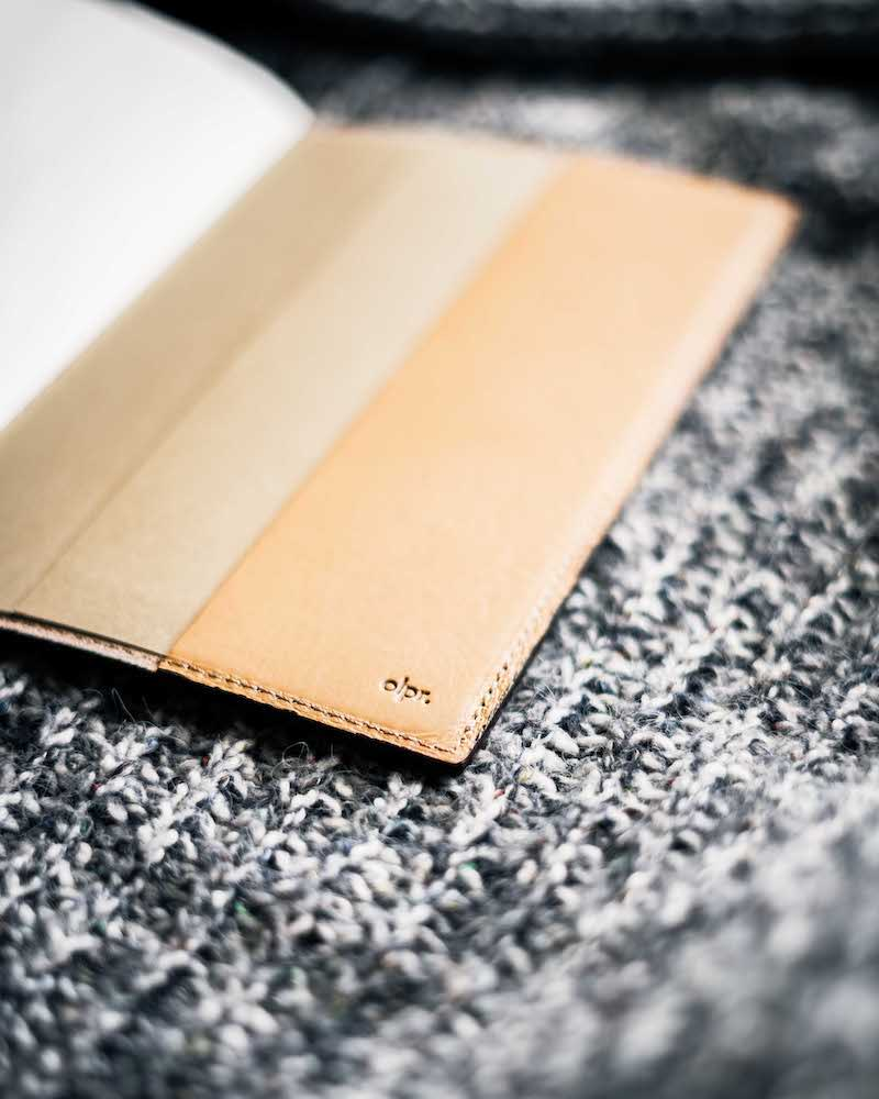olpr leather notebook cover cream