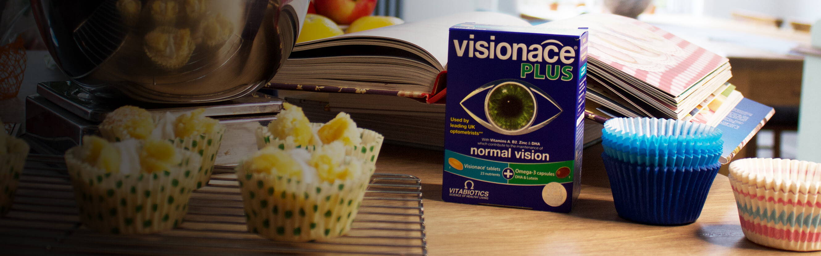 DHA is an essential fatty acid that is known to help support maintenance of normal vision. The Omega-3 capsules in Visionace plus are rich in DHA that play an important structural and functional role in your retina. All in addition to our tried and tested Visionace formula which provides all round daily nutrition.