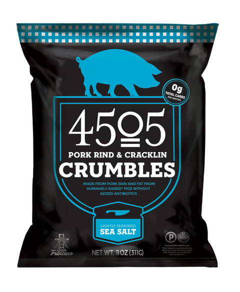 A bag of pork rind crumbles