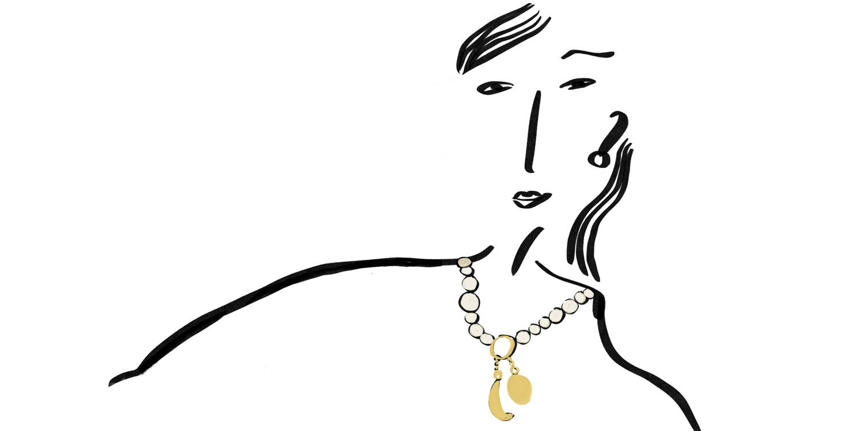 DYO pearl charm chain