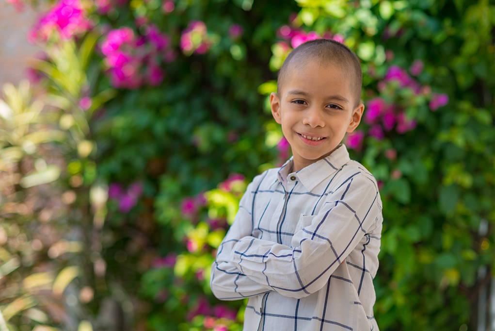 Jordan, 7 años, leucemia. Beneficiario CDLA