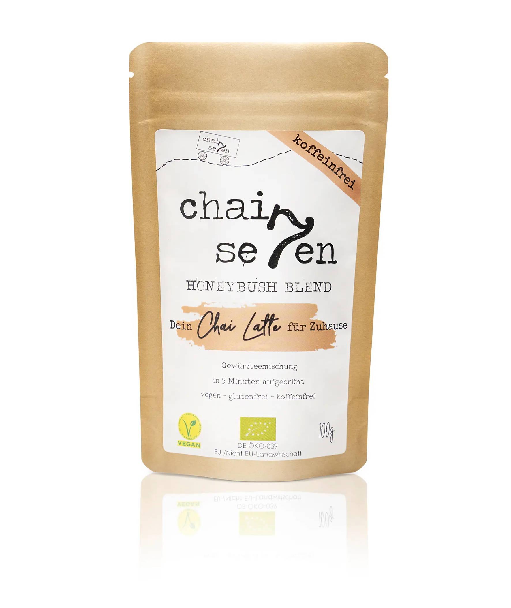 Bio Masala Chai koffeinfrei mit Honigbuschtee von Chai Seven