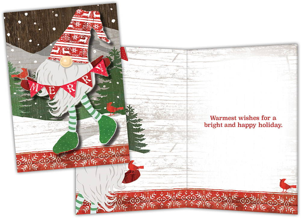 Boxed Christmas Cards Merry Gnome