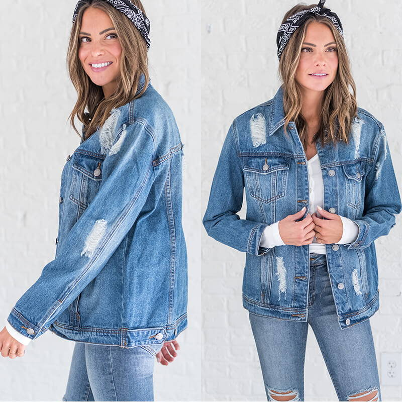 denim jacket for women from bella ella boutique