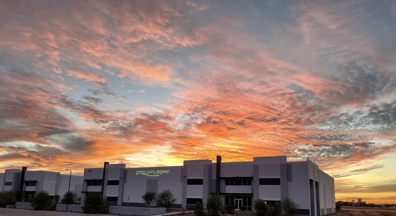 Beautiful Sunset at Print.Save.Repeat. Mesa, AZ