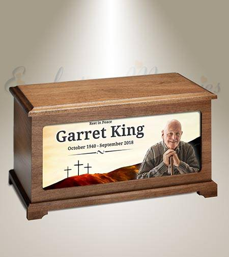 Hilltop Crosses Burial Urn For Picture