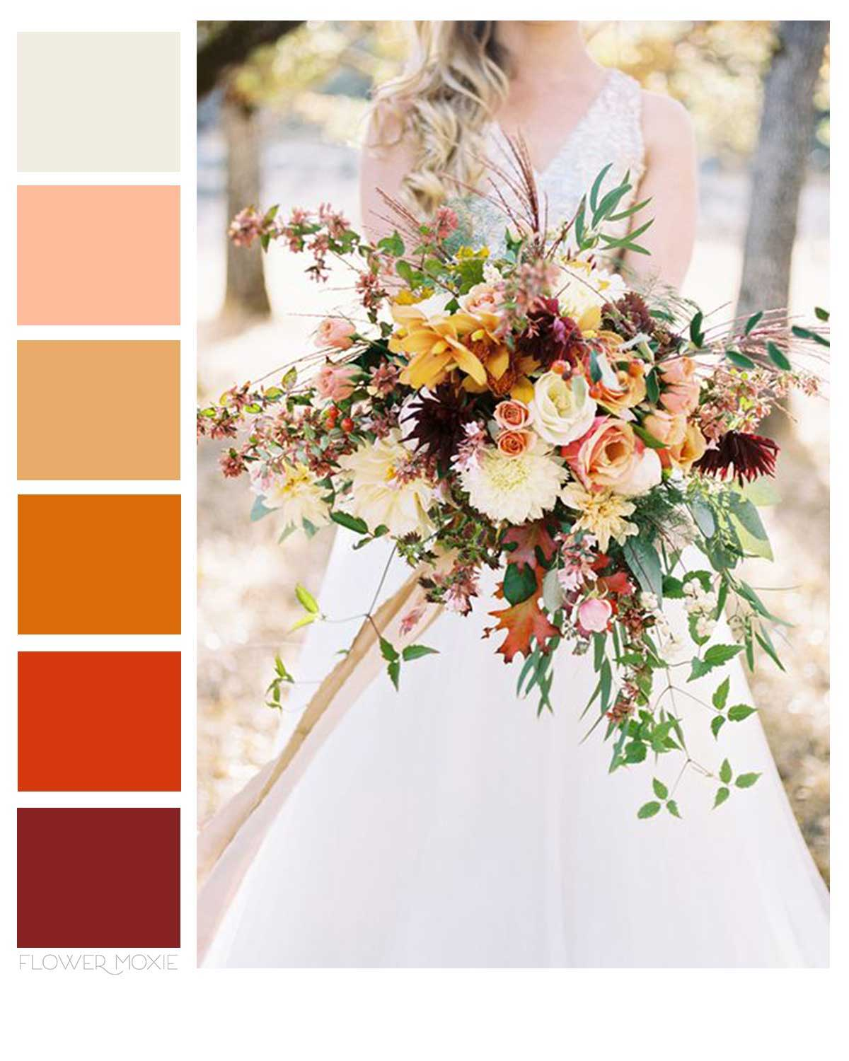 autumn and fall wedding flower diy packages