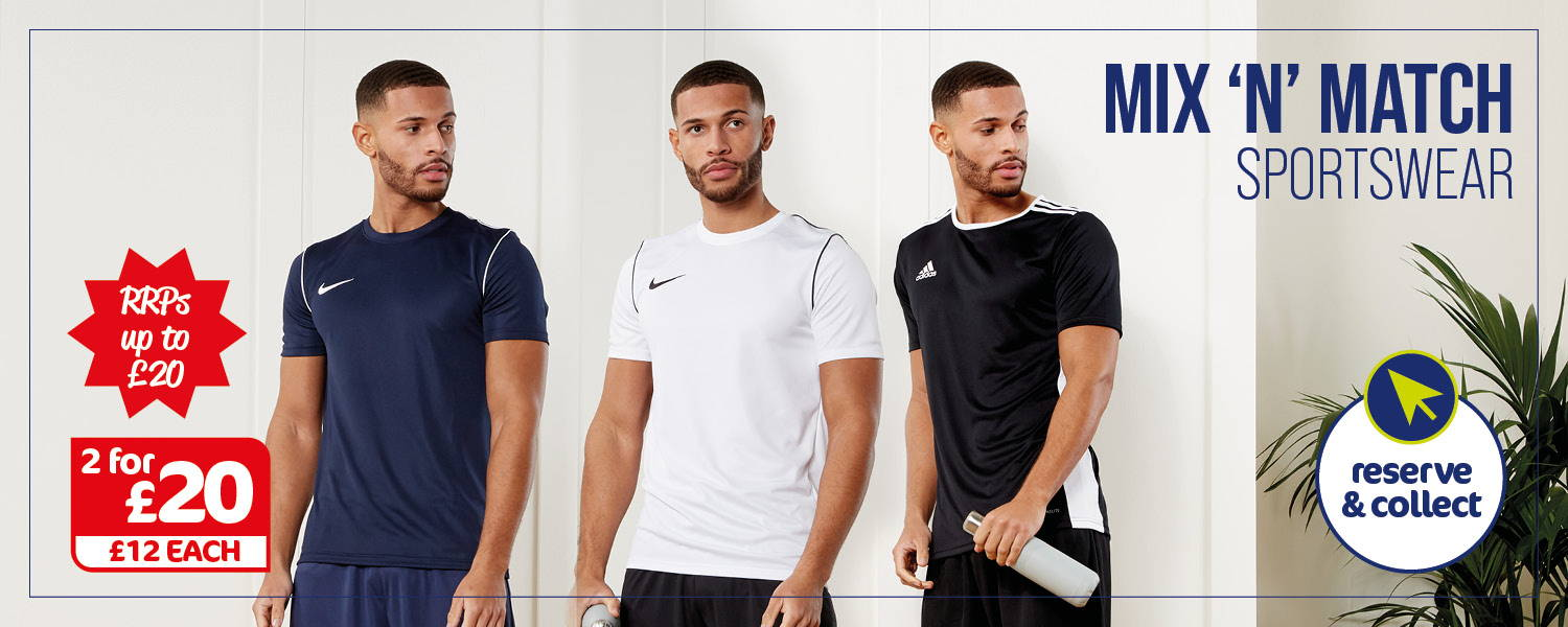 Men's 2 for £20 Nike & Adidas T-Shirts