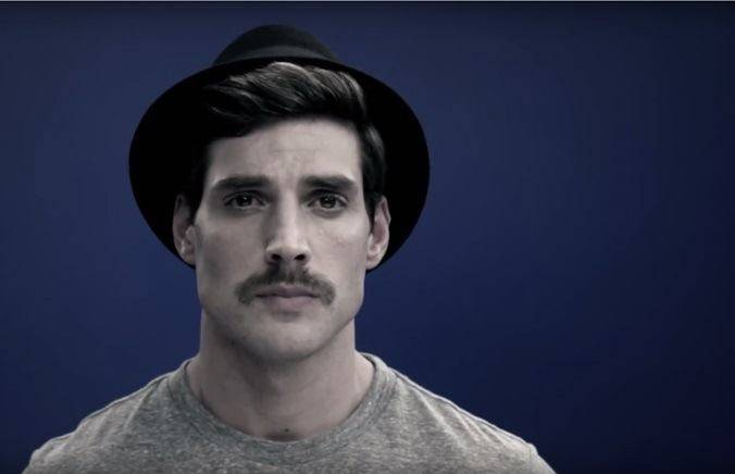 You're finished image. You have just mastered the chevron mustache style.