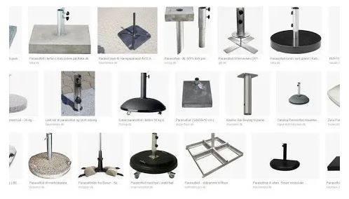 Sonnenschirmständer aus granit oder beton mit oder ohne rollen