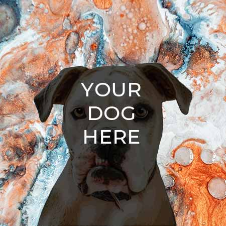 pop your pup pop art example on marble background