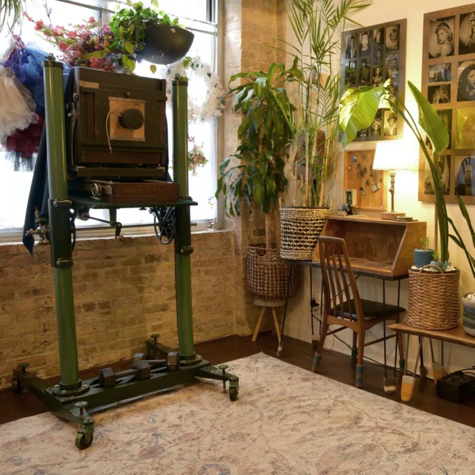 Tintype Ambrotype portrait studio Deardorff Camera
