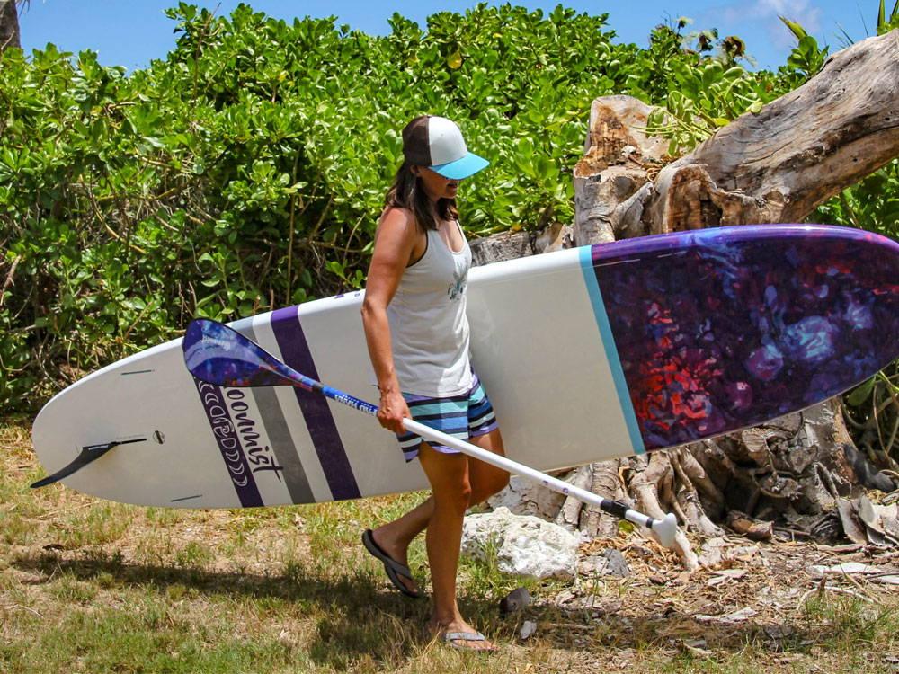 Pau Hana Moon Mist Yoga SUP board