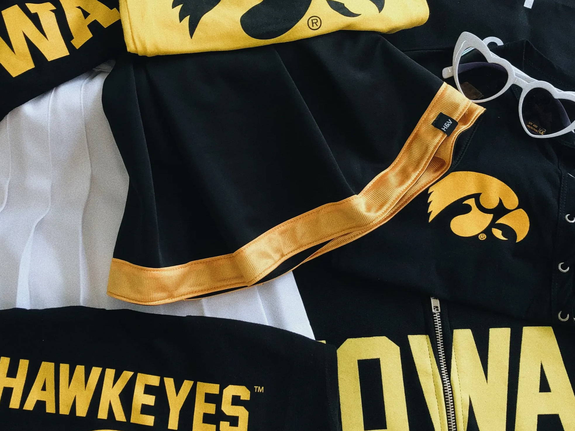University of Iowa Hawkeyes college apparel for women. Cute and trendy!