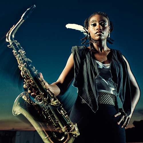Lakecia Benjamin recommends stopping sticky sax pads with Key Leaves saxophone care products.