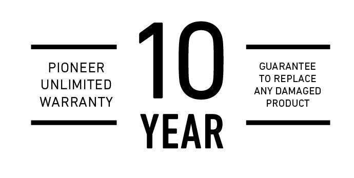 10 year unlimited warranty logo