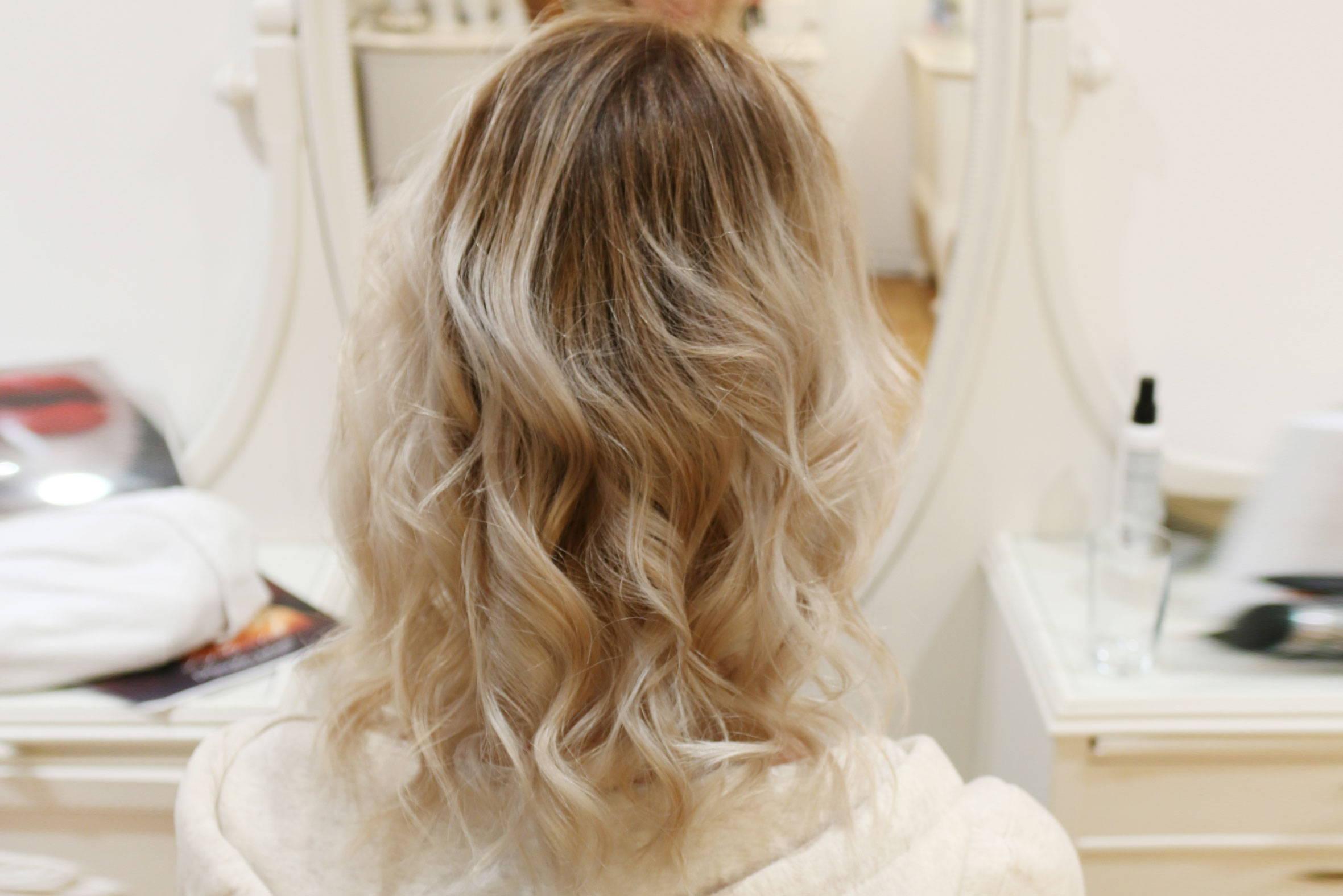 balayage für blondes haar beim püppikram friseur in berlin friedrichshain