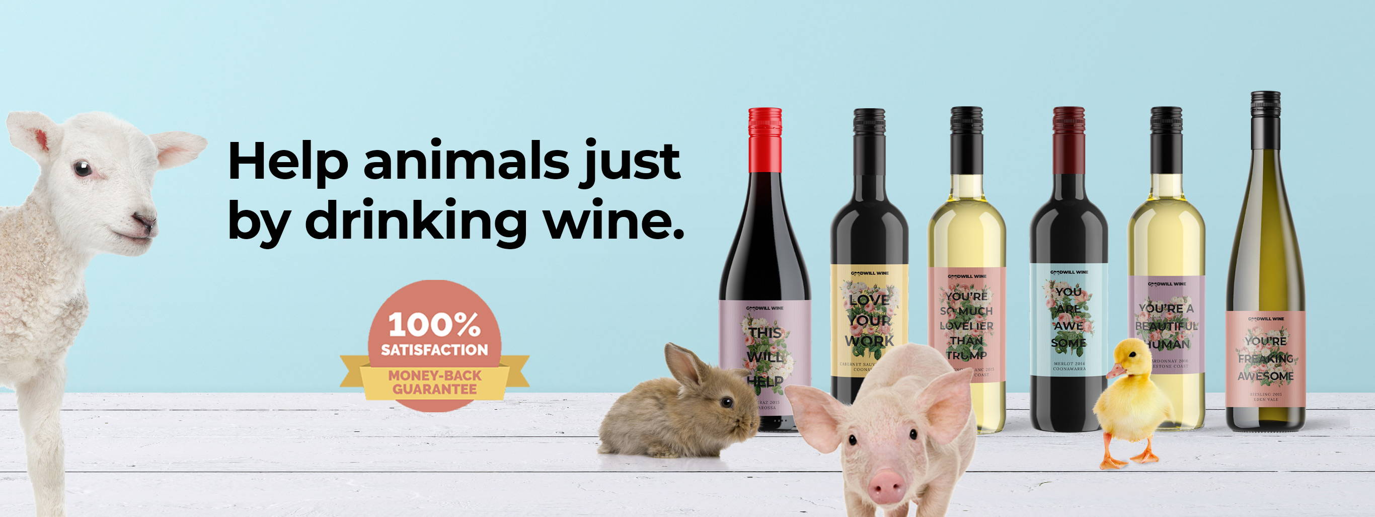 Help animals just by drinking wine.