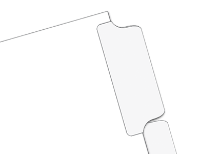 Mylar Blank Divider Tabs