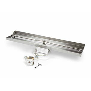 Linear drop-in trough match lit ignition system