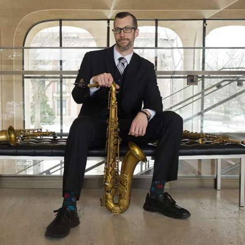 Dr. Wade Howles with tenor alto and soprano saxophones