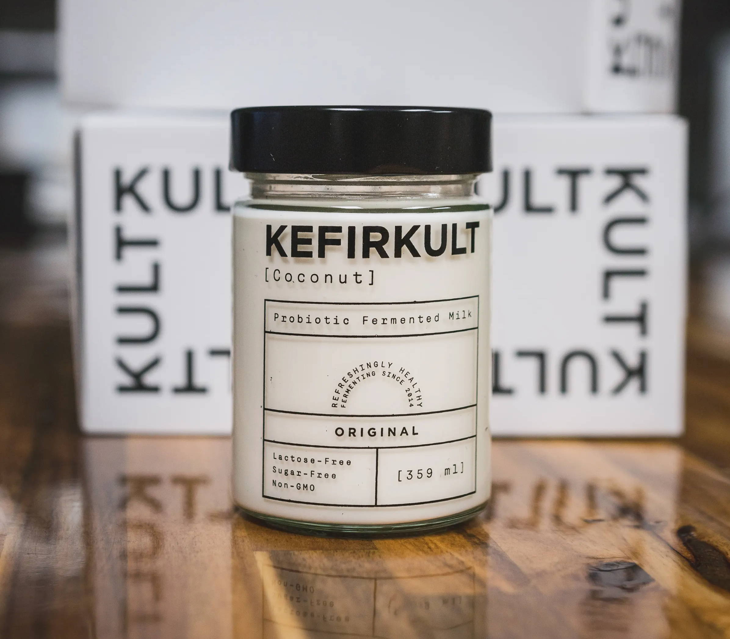 KefirKult Coconut Kefir Yogurt. Vegan Yogurt. Coconut Yogurt.