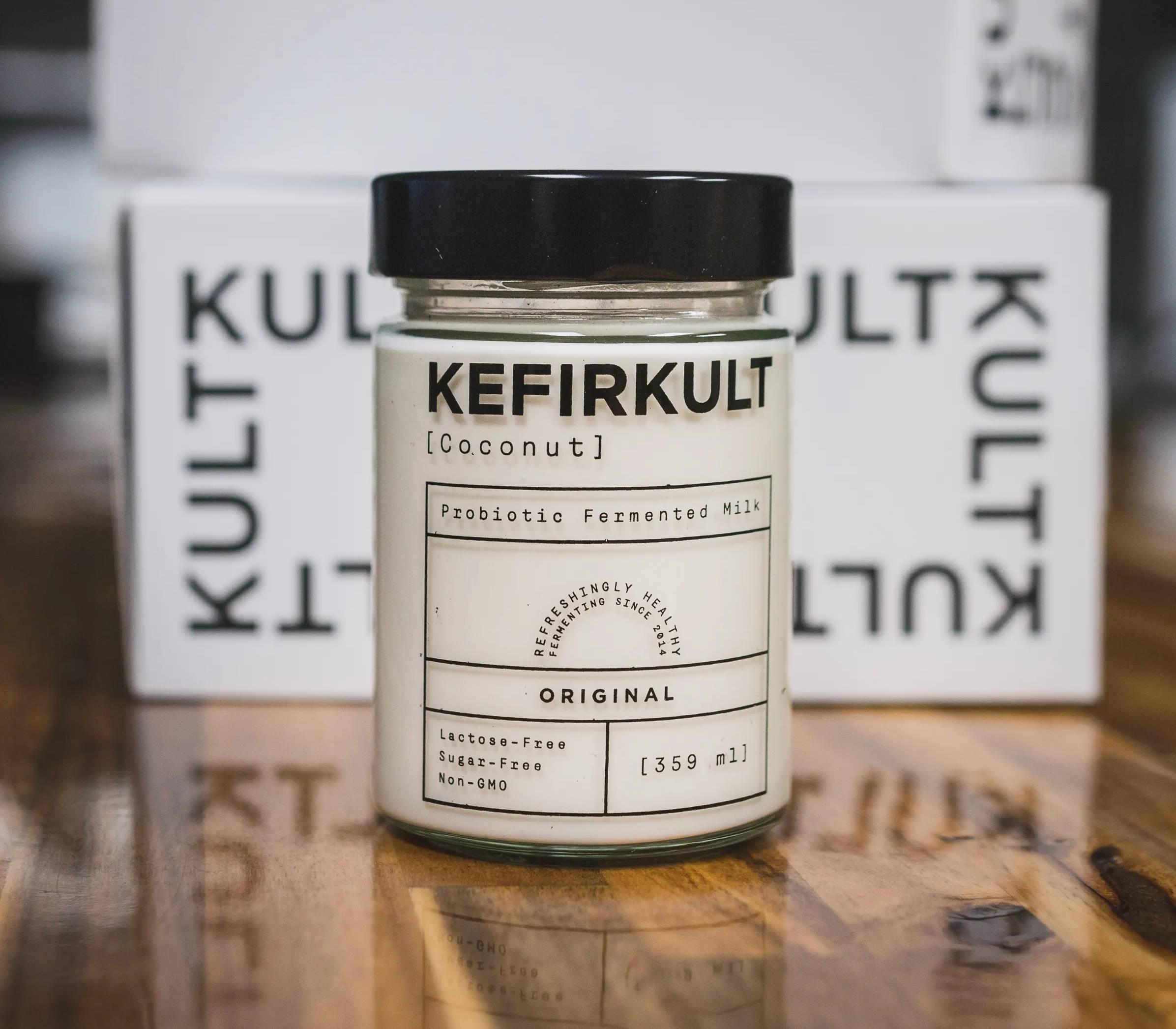 KefirKult Coconut Kefir Yogurt. Vegan Yogurt. Coconut Yogurt.