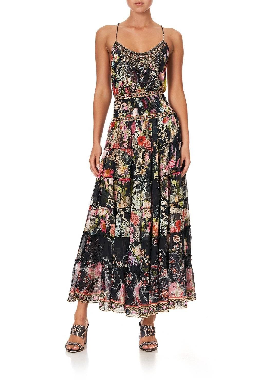 CAMILLA black floral skirt, CAMILLA hampton hive skirt