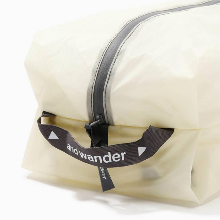 andwander(アンドワンダー)/シル スタッフサック ミディアム/ホワイト/UNISEX