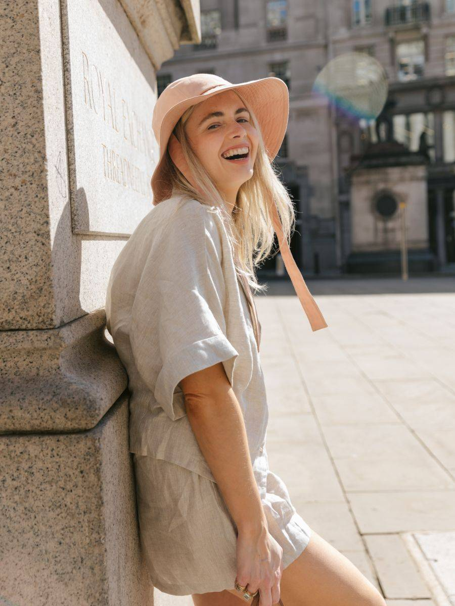 Fanfare label sustainable women's clothing, shop our ethically made linen co-ord set