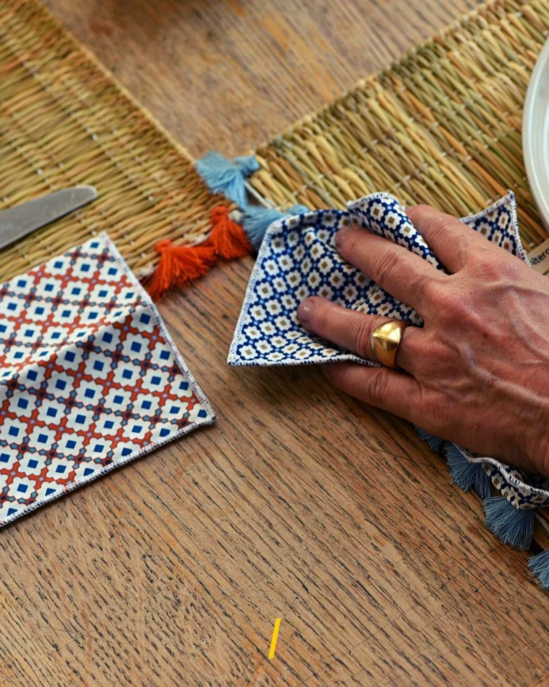 Les serviettes de table ecologiques - Alterosac
