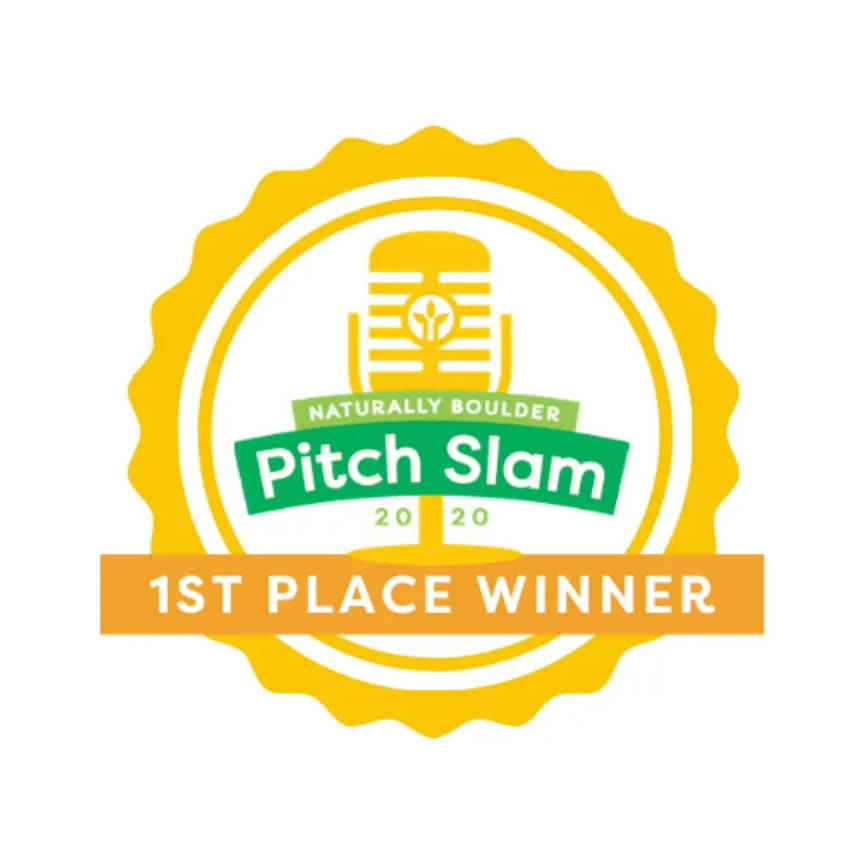 Graphic logo of Naturally Boulder 2020 Pitch Slam