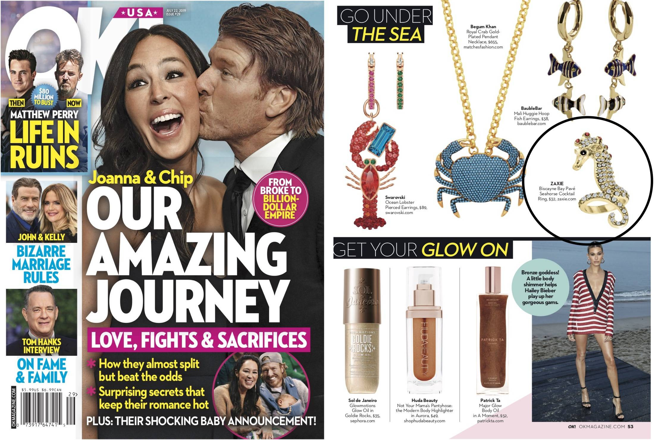 ZAXIE Seahorse ring in US weekly