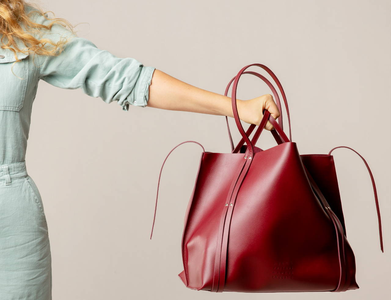 The Hepworth Tote Bag Oxblood - Hill and Friends