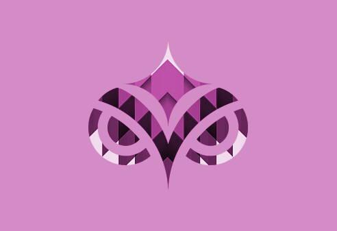 Pink textured Pokahnights logo on pink background