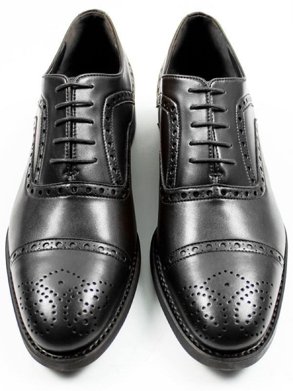 Black Collection Black Vegan Leather Brogues - Will's | Ecoture