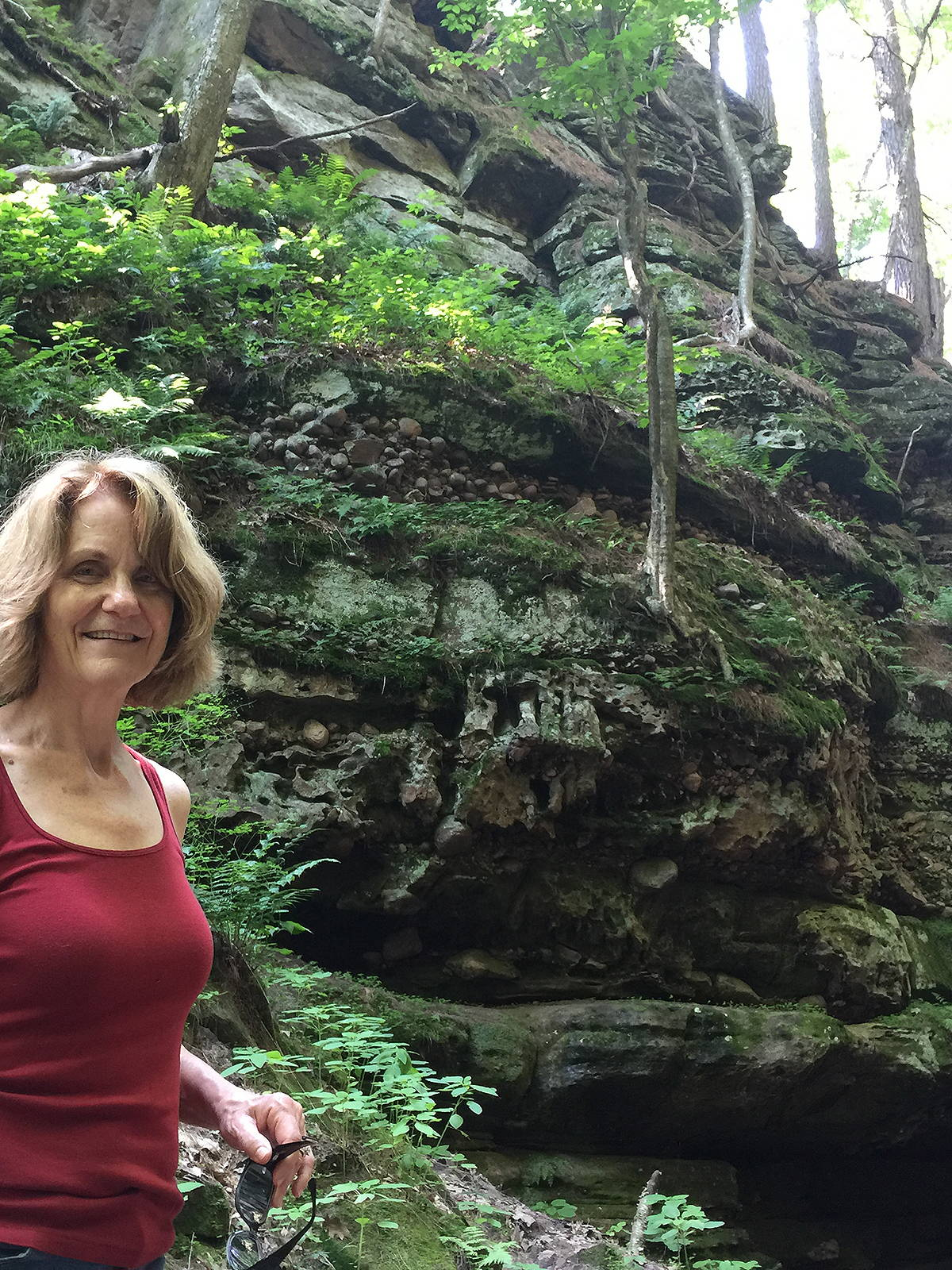 Robyn explores Parfrey's Glen near Baraboo, Wisconsin