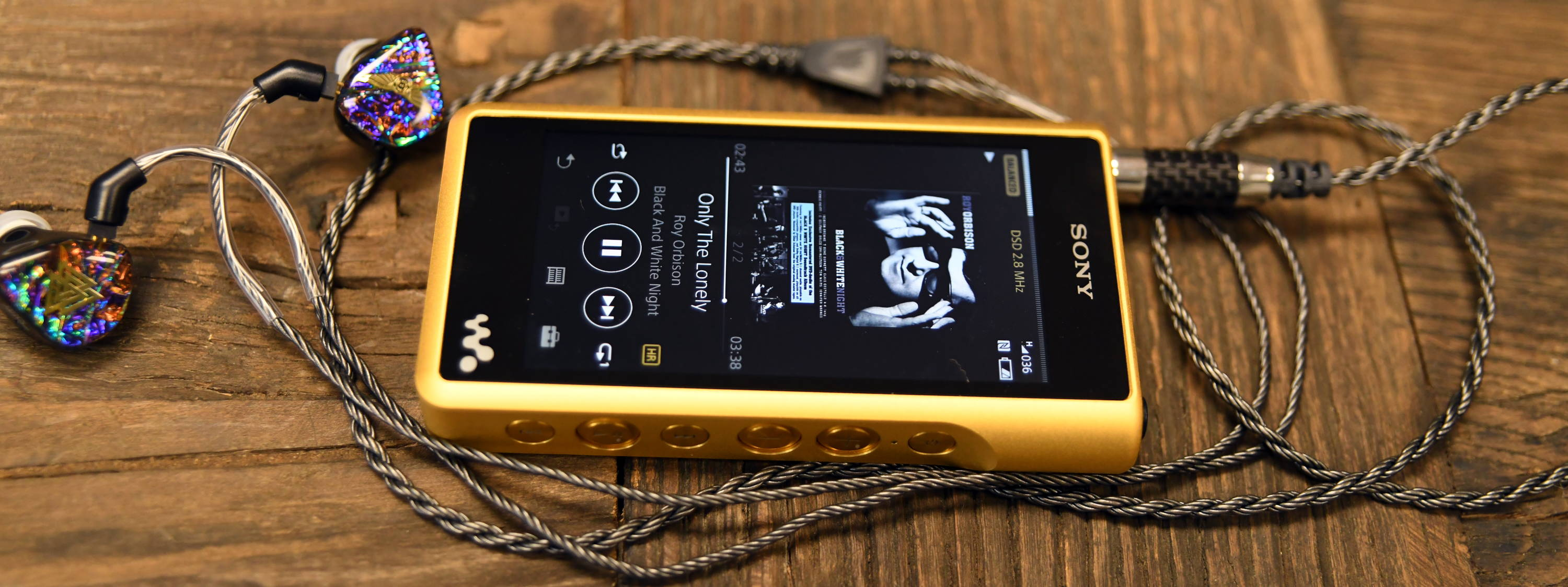 Sony NW-WM1Z Walkman with Silver Dragon IEM cable and Valkyire MK-11 IEM from Empire Ears