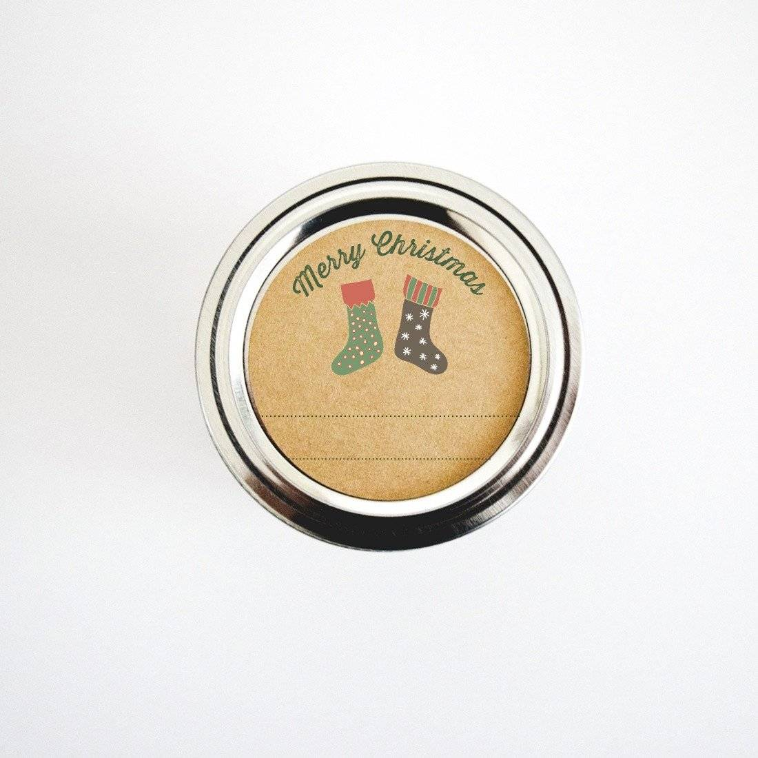 Christmas stockings canning labels