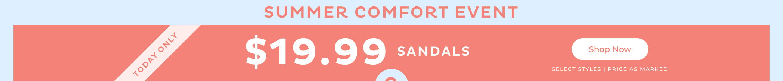 $19.99 Sandals