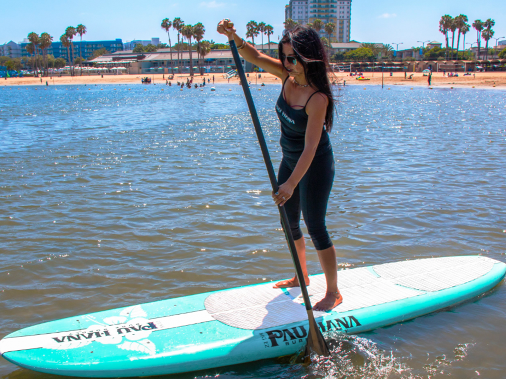 This is the best family paddle board. Paddling in California on the Pau Hana Big EZ Hawaiian