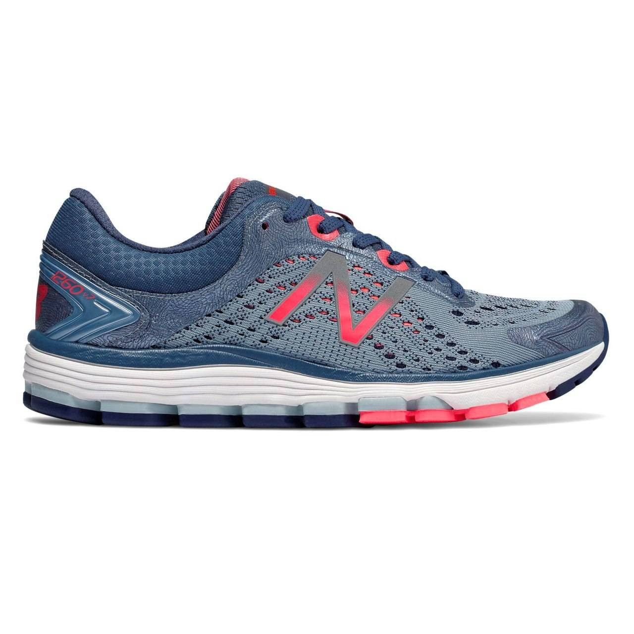 New Balance 1260v7 Women's Running - Reflection with Vintage Indigo & Vivid Coral