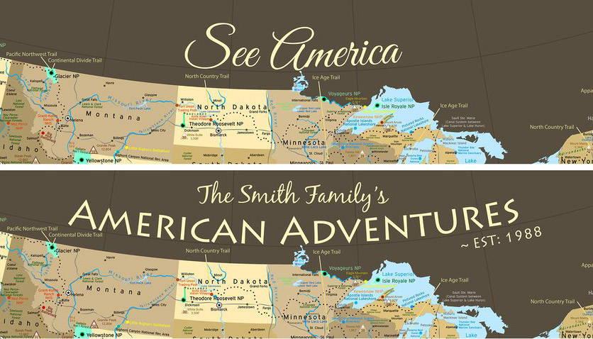 USA Push Pin Maps, US Travel Map With Pins – GeoJango Maps